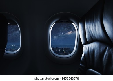 Airplane Window Night Images Stock Photos Vectors Shutterstock