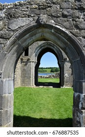 Looking through the Doorways, St Mary's Augustinian Priory, Devenish Island, Lower Lough Erne, County Fermanagh, Northern Ireland