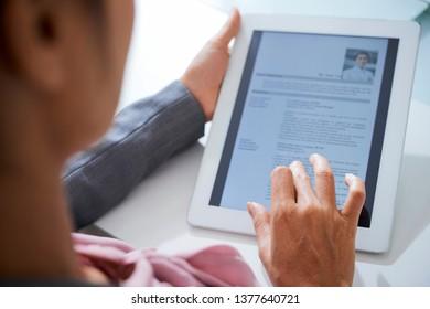 Looking through resume