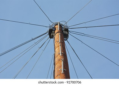 Looking up to the top of a Telegraph Pole