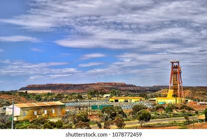 Looking toward the Kalgoorlie Super Pit in Kalgoorlie Western Australia