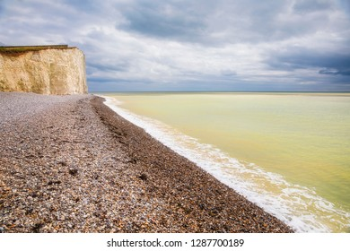 Looking towards Beachy Head from Birling Gap, Eastbourne Downland, South Downs National Park, England