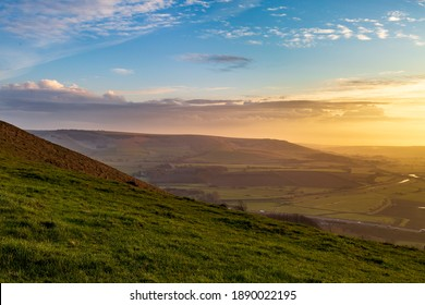 Looking towards Firle Beacon from Mount Caburn on a winters afternoon