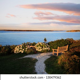 Looking Towards Martha's Vineyard From Nobska Point, Cape Cod, Massachusetts, USA