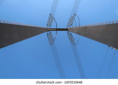 Looking Up at a Utility Pole