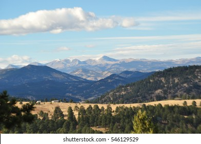 Looking west to Mount Evans