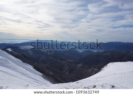 Looking west from Passo