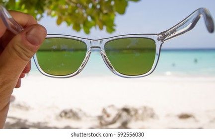 Looking at Worthing Beach in Barbados
