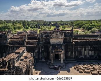 Look-Out. Angkor Wat. Siem Reap. Cambodia.