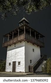 Lookout called Veza in village Velke Borove, Slovakia. - Shutterstock ID 1379685092