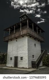 Lookout called Veza in village Velke Borove, Slovakia. - Shutterstock ID 1379685095