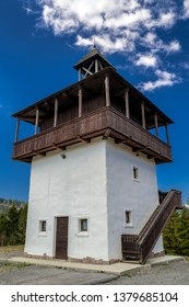 Lookout called Veza in village Velke Borove, Slovakia. - Shutterstock ID 1379685104
