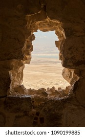A Lookout to the Dead Sea region from on top of Masada National Park in Israel.