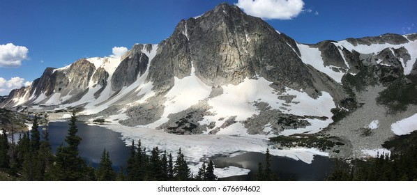 Lookout Lake and the Snowy Range, Wyoming