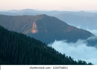 Lookout Mtn from Carpenter Mountain fire lookout, H.J. Andrews Experimental Forest, Willamette National Forest, Oregon, USA