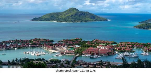lookout onto Iden island Seychelles