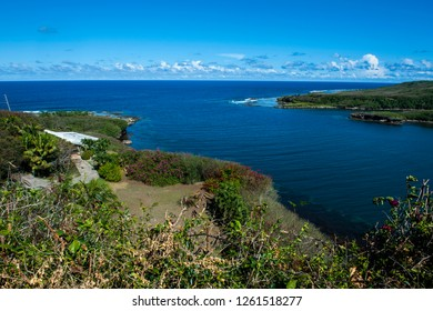 Lookout over Pago Bay, Guam, US Territory, Central Pacific
