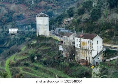 lookout A Pena Do Conde in galicia Spain, near of the village Barca de Santo Estevo
