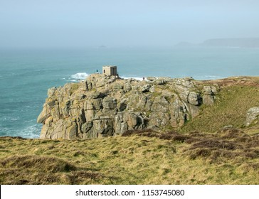 Lookout Post/Coastguard Station on the Clifftops between Land's End and Sennen Cove, Cornwall UK