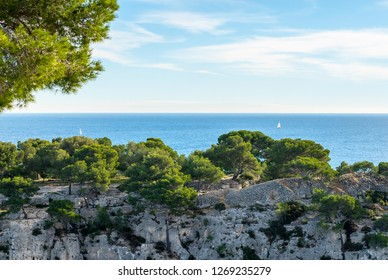 Lookout to sea at French riviera