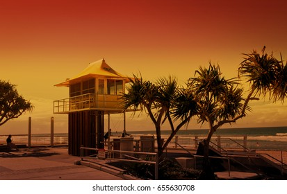 the lookout for the surf lifesavers at Surfers Paradise, gold Coast, Australia