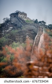 Lookout tower at the great wall of China