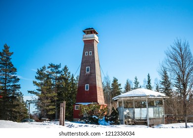 Lookout tower high above Filipstad / Sweden