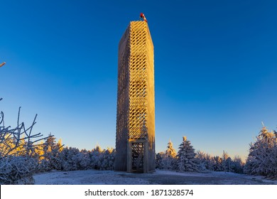 Lookout tower, Velka Destna, Orlicke mountains, Eastern Bohemia, Czech Republic