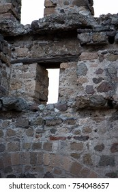 Lookout windows in the castle of Afyonkarahisar Trukey
