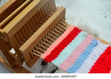 loom in the snow