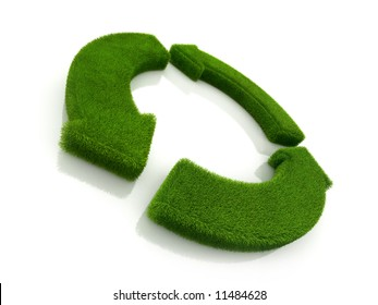 loop recycle grass symbol