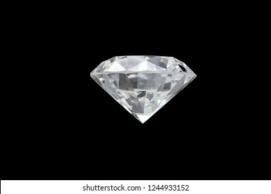 loose brilliant round diamond side view on black background