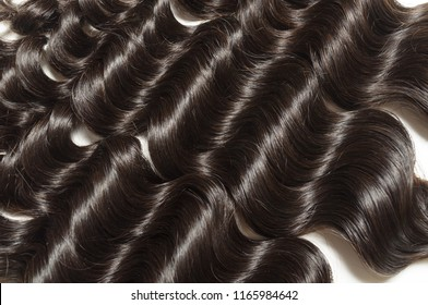 Loose deep curly black human hair weaves extensions bundles