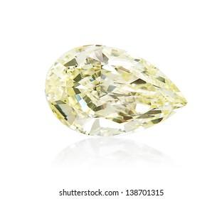 Loose pear shape diamond.