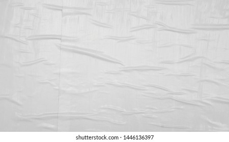 loose peeling creased wrinkled urban white wall poster paper texture