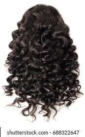 Loose wave black human hair lace wig