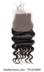 Loose wave black human hair weaves extensions lace closure