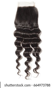 Loose wave curly virgin remy human hair lace closure