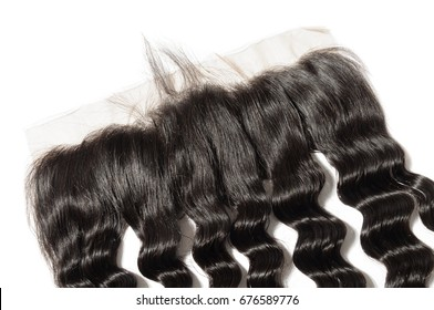 Loose wave virgin human hair extensions wide range lace frontal closure