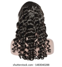 loose wave wavy black human hair weaves extensions lace wigs on fake model
