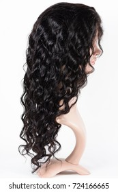 Loose wavy black human hair wigs