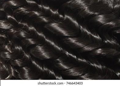 Loose wavy black human hair weave extensions
