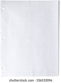 Looseleaf Notebook Paper - Isolated