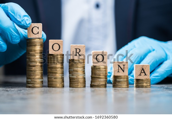 Loosing Money Concept During Coronavirus Pandemic Recession