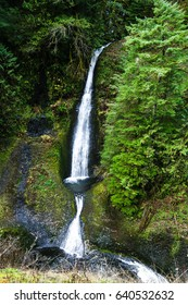 Loowit Falls can be seen from the Eagle Creek Trail in Cascade Locks, Oregon.
