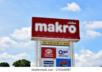 Lop Buri - Thailand,10/06/2020​: Makro Sign Makro Cash and Carry is an international brand in Wholesale Trade Center.