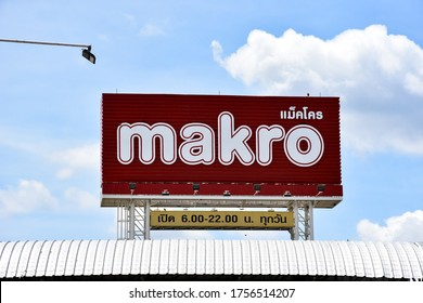 Lop Buri - Thailand,16/06/2020​: Makro Sign Makro Cash and Carry is an international brand in Wholesale Trade Center.