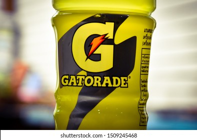 Lop Buri - Thailand, 20/09/2019: Gatorade  The number one mineral beverage in 27 countries worldwide by Pepsi-Cola.  (Thai) Trading Co., Ltd. penetrates the mineral beverage market in Thailand - Asia