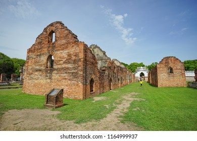 Lopburi, Thailand - July 7, 2018: The palace storage in Phra Narai Ratchaniwet or King Narai's Palace. Lopburi, Thailand