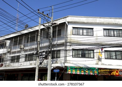 LOPBURI-THAILAND-FEBRUARY 23 : The old Commercial Building in the town on February 23. 2015 Lopburi Province. Thailand.